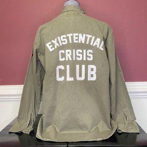 """Jac Vanek """"Existential Crisis"""" button down sz S, M"""